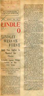 Lindley wins on first