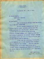 Letter from Luther Brown to Walter Lindley