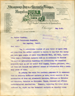 Letter from Dearborn Drug and Chemical Works to Walter Lindley