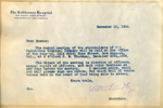 Letter from Walter Lindley to the stockholders of California Hospital