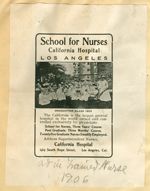 California Hospital School for Nurses advertisement