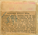 Howard Gould sick