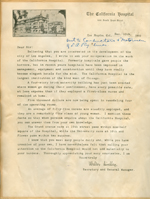 Form letter from Walter Lindley to the conductors and motormen of Los Angeles railway lines