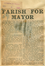 Farish for mayor