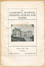 California Hospital Training School for Nurses brochure