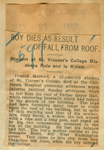 Boy dies as result of fall from roof