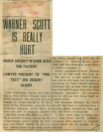 Warner Scott is really hurt