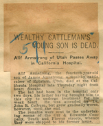 Wealthy cattleman's young son is dead