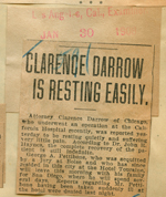 Clarence Darrow is resting easily