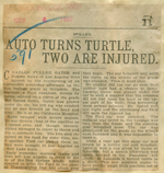 Auto turns turtle, two are injured