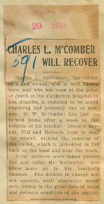 Charles L. M'Comber will recover