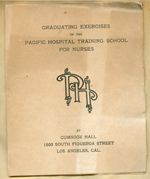 Pacific Hospital Training School for Nurses graduating exercises