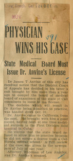 Physician wins his case