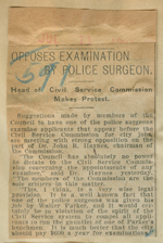 Opposes examination by police surgeon