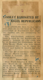 Lindley nominated by angel Republicans