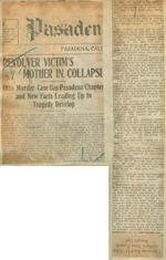 Revolver victim's mother in collapse