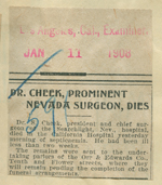 Dr. Cheek, prominent Nevada surgeon, dies