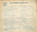 Southern Pacific advertising contract