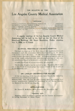 Bulletin of the Los Angeles County Medical Association