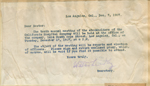 Letter from Walter Lindley to physicians
