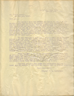 Letter from W. L. McAlister to Walter Lindley