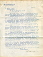 Letter from P. Kitchin to Walter Lindley
