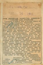 The Angelus Hospital Association of Los Angeles