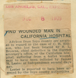 Find wounded man in California Hospital