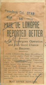 Paul de Longpre reported better