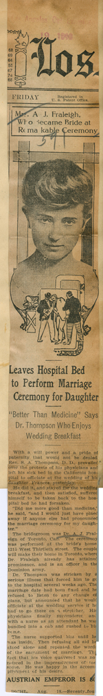 Leaves hospital bed to perform marriage ceremony for daughter