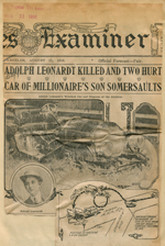Adolph Leonhardt killed and two hurt