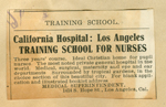 California Hospital Training School for Nurses