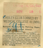 Lindley club formed by medical college alumni