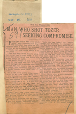 Man who shot Tozer seeking compromise