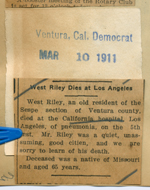 West Riley dies at Los Angeles