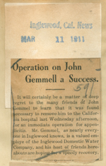 Operation on John Gemmell a success