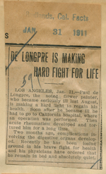 De Longpre is making a hard fight for life