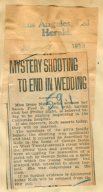 Mystery shooting to end in wedding