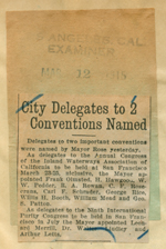 City delegates to two conventions named