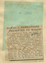 Bicknell resolutions presented to widow