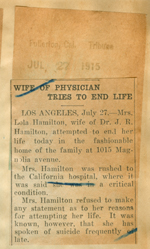 Wife of physician tries to end life