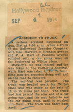 Accident to truck