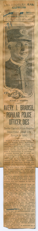 Avery J. Bradish, popular police officer, dies