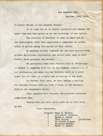 Letter to the nurses of Los Angeles County