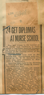 24 get diplomas at nurse school