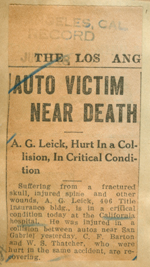 Auto victim near death