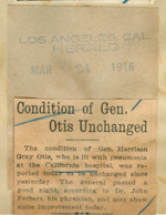 Condition of General Otis unchanged