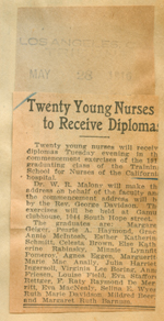 Twenty young nurses to receive diplomas