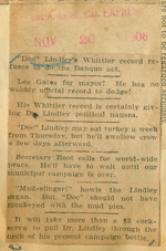 Doc Lindley's Whittier record
