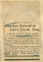 Rancher, injured in auto crash, dies